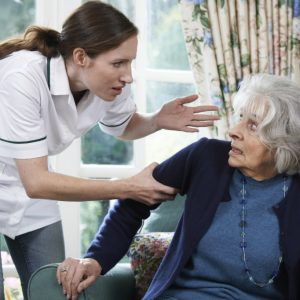 patient abused by nursing home caregiver