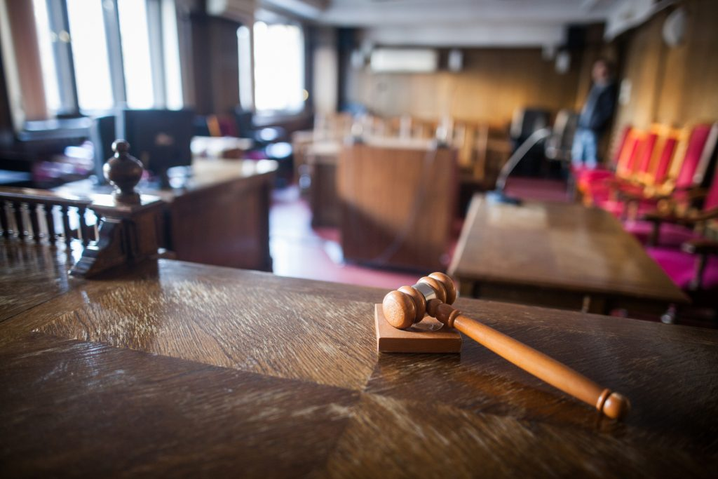 Courtroom with gavel